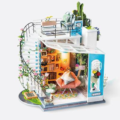 ROBOTIME Dora's Loft Kit de casa de muñecas en miniatura DIY